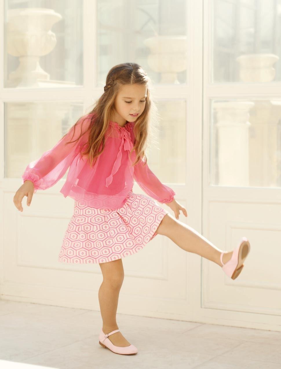 Pink girls festive outfit roze meisjes feestkleding fashion kids