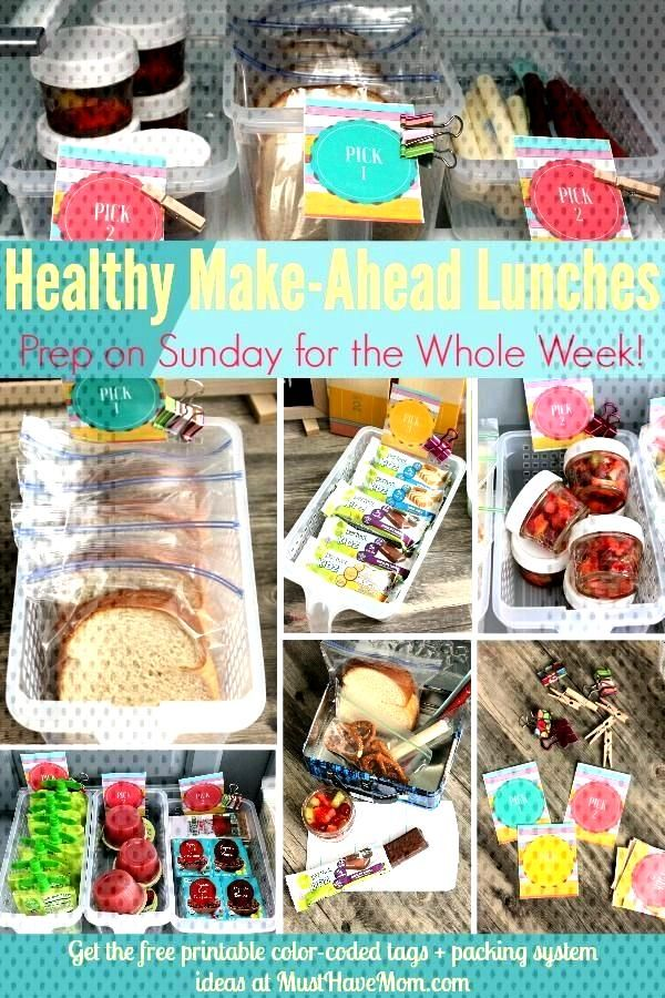 Healthy Make Ahead Lunches for Back To School!,