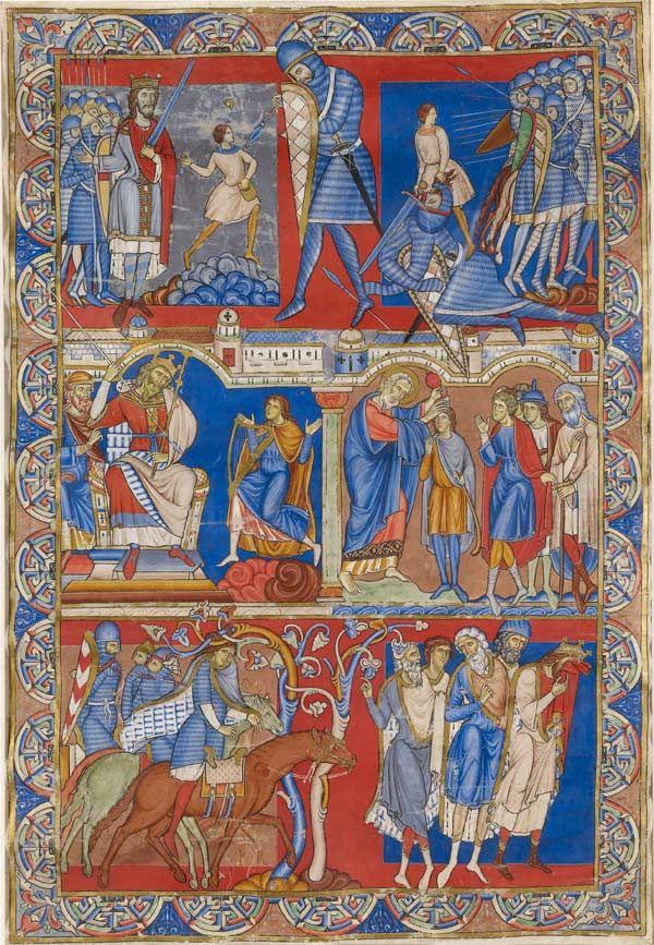 Kunst Van De Middeleeuwen.De Winchester Bijbel Een Meesterwerk Van De Middeleeuwse