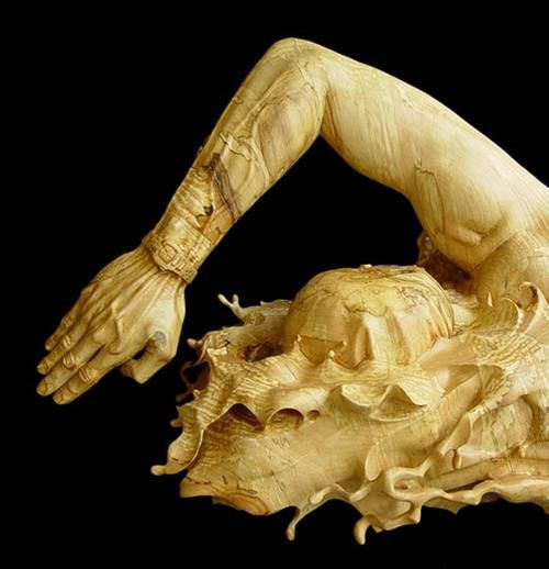 Stunning Wood Sculpture Carved From a Single Piece of Basswood