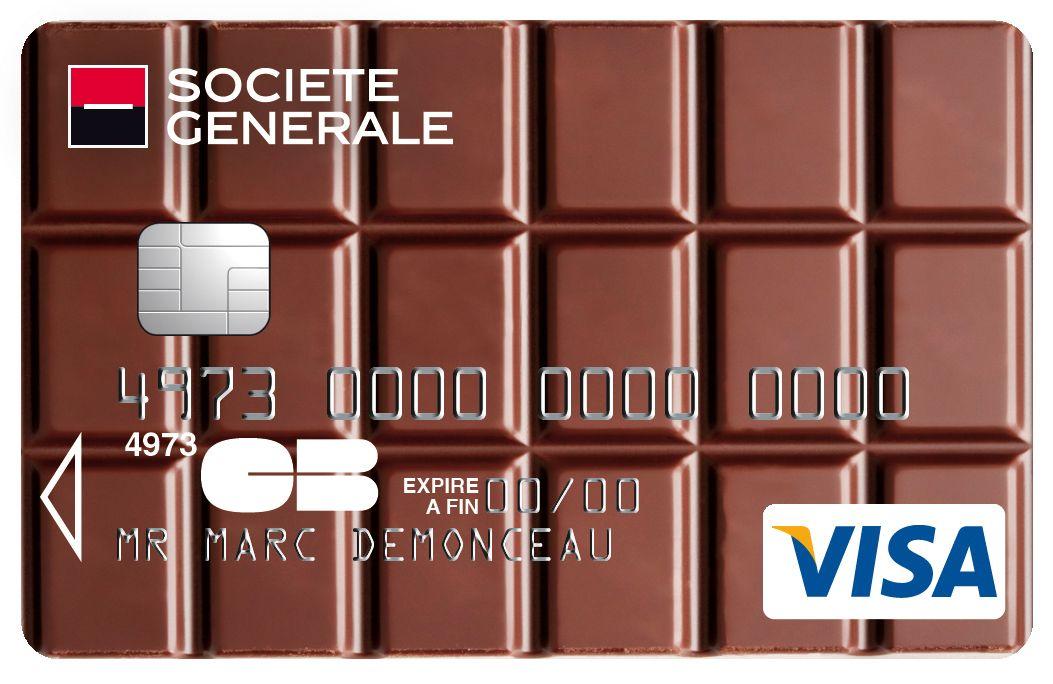 Carte Collection Visa Societegenerale Parfumee Au Chocolat