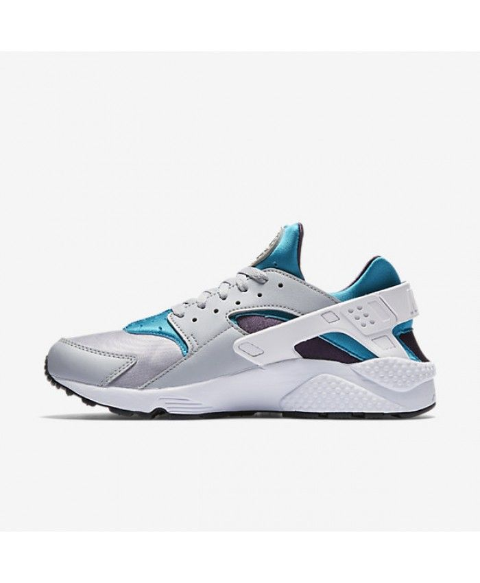 94272d3a9166 Nike Air Huarache Wolf Grey Aquatone Purple Dynasty White Men s Shoes    Trainers Sale