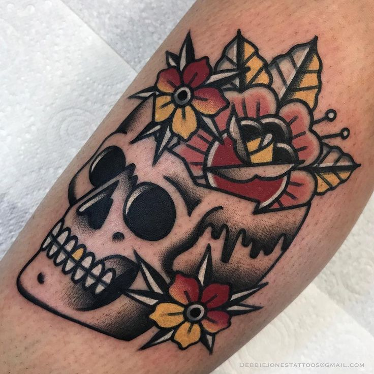 Photo of Traditional tattoo skull