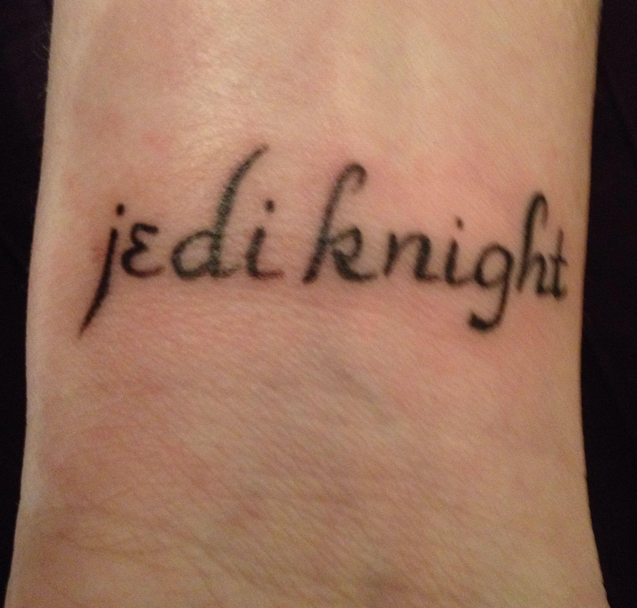 Knight Tattoo Quotes: Jedi Knight Tat By Inksplosive Tattoo In Connecticut