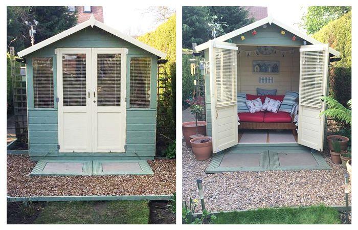 10 Ideas For Decorating A Summerhouse Summer House Interiors Beach Hut Decor Summer House Garden