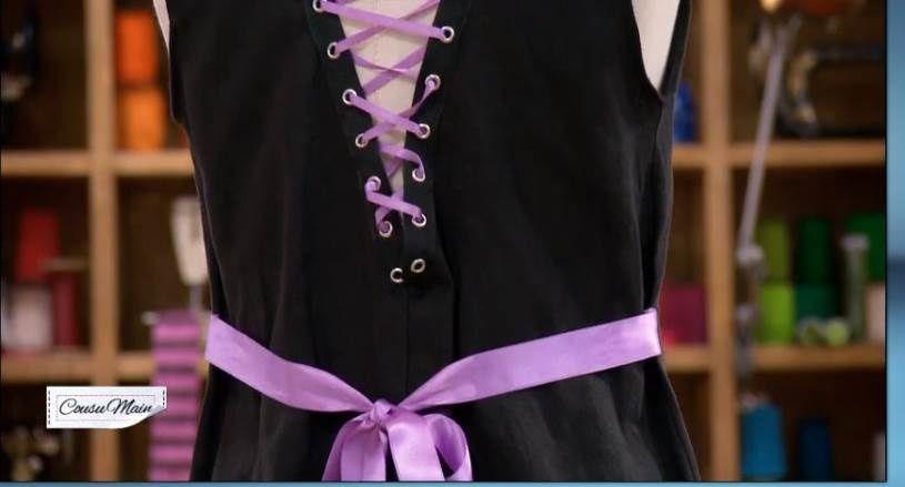 3d1ddc077e6 COUSU MAIN 2 - la laine et le lin   Customiser une robe noire ...