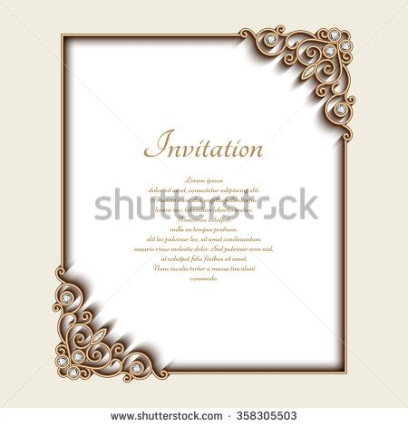 Vintage gold background vector rectangle jewelry frame with