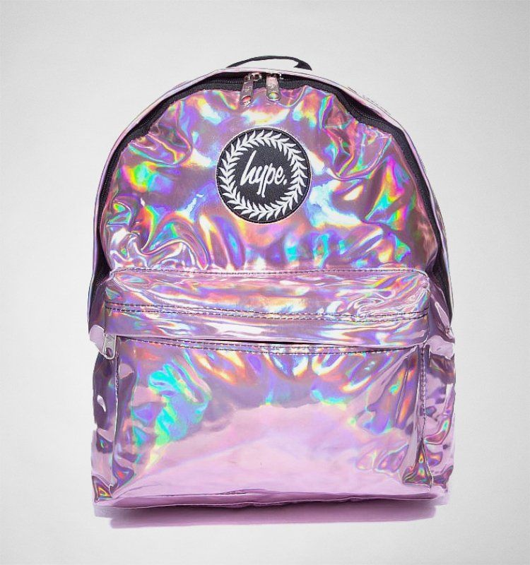 uk cheap sale 50% off discount shop Hype Holographic Backpack Pink Accessories Bags | Habitacion ...