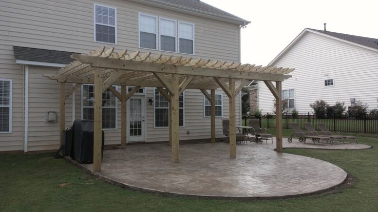 Pergola And Stamped Concrete   Google Search