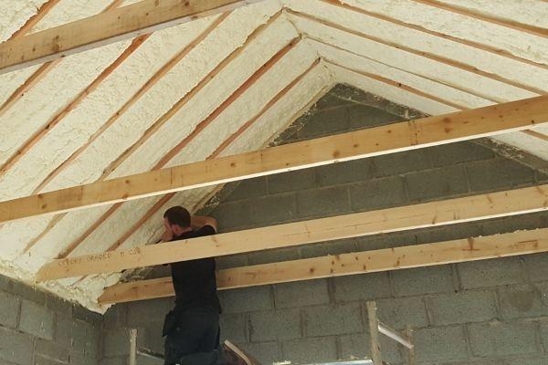 Diy Spray Foam Insulation Metal Roof In 2020 Diy Spray Foam Insulation Roof Foam Insulation Roof Insulation