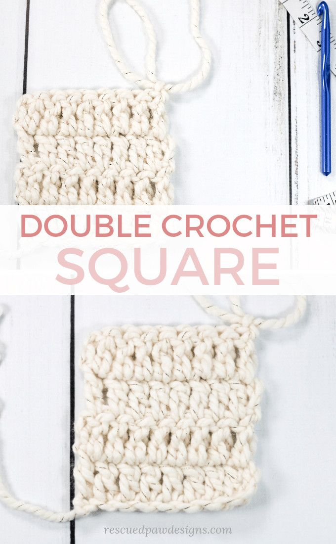 Photo of Double Crochet Square – Easy to Make