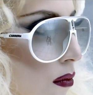 Lady Gaga wearing Carrera Sunglasses in Bad Romance Video ... f373ac9149