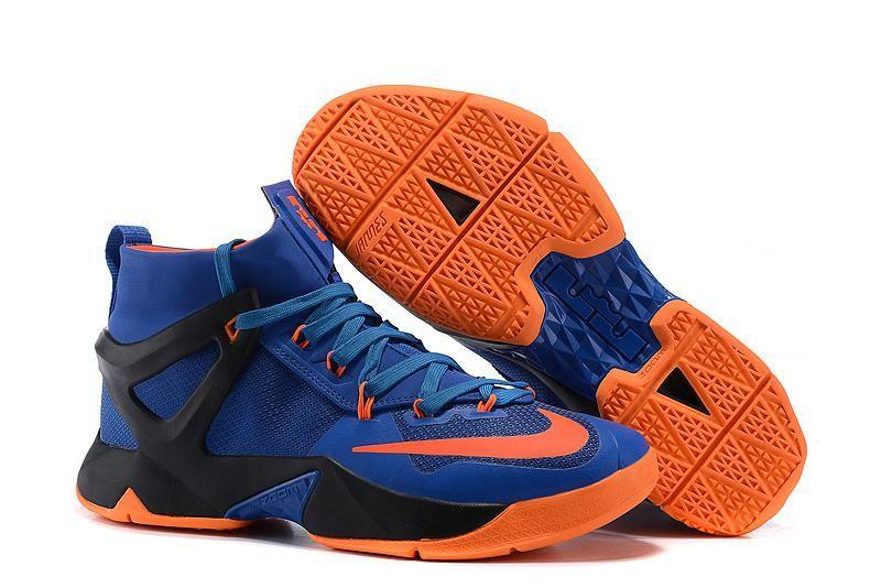 100% authentic e0ac9 af291 Nike Lebron 13 Mens Red Orange Royal Blue Black