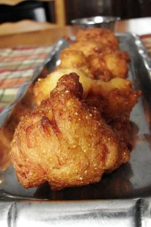 Cajun Chicken Fritters with Creole Mustard Dipping Sauce by Joan Leonard