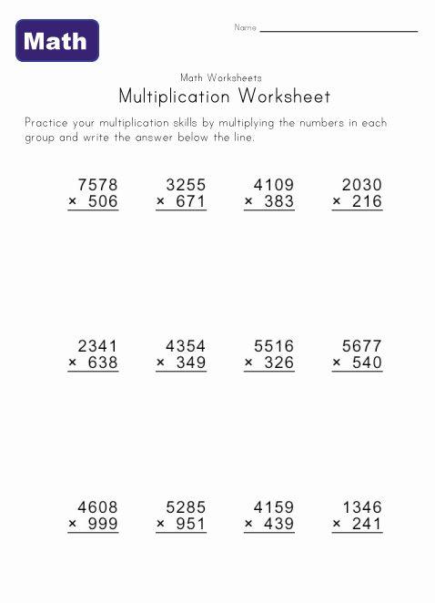 Multiple Digit Multiplication Worksheets Math Worksheets Multiplication Worksheets Multiplication