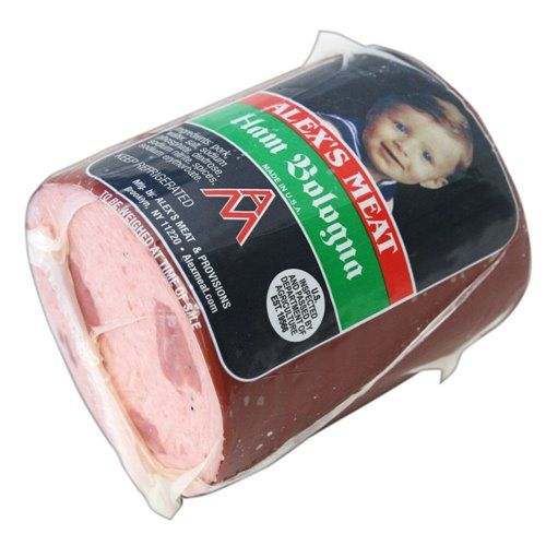 Alex's Meat Chunk Ham Bologna is a sausage made with high ...