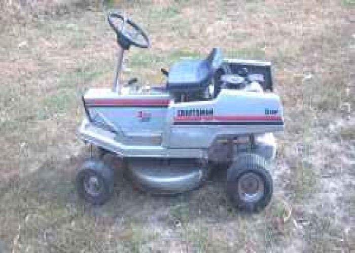 Old Craftsman Riding Lawn Mower