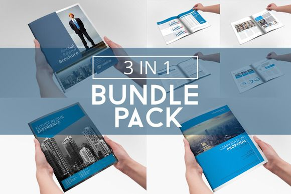Business Brochure Bundle Pack 3 in 1 by Creative Template on - free annual report templates