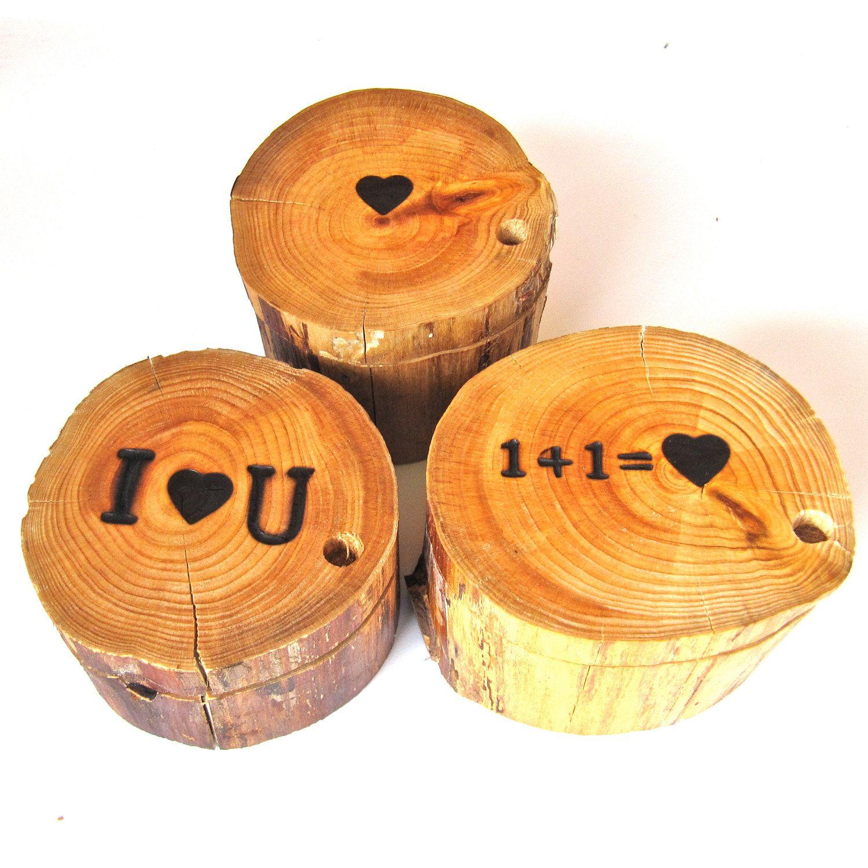 Wooden Ring Holder, Valentines Day Ring Holder, Wooden Ring Holder, Proposal Ring Holder. $20.00, via Etsy.