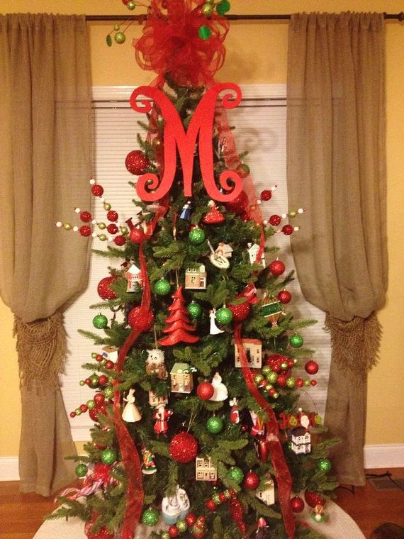 Christmas tree letter front door for by