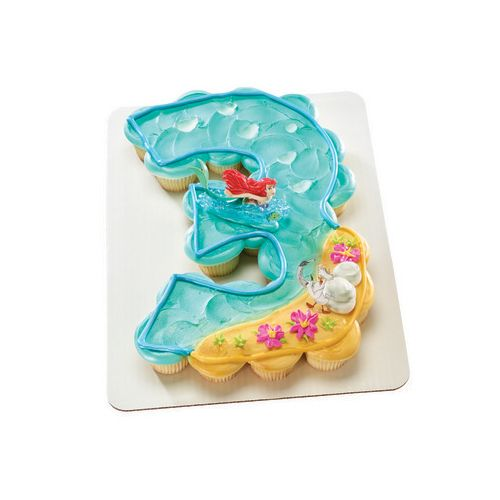 LIttle Mermaid Party Princess Ariel and Scuttle Cake Topper Party