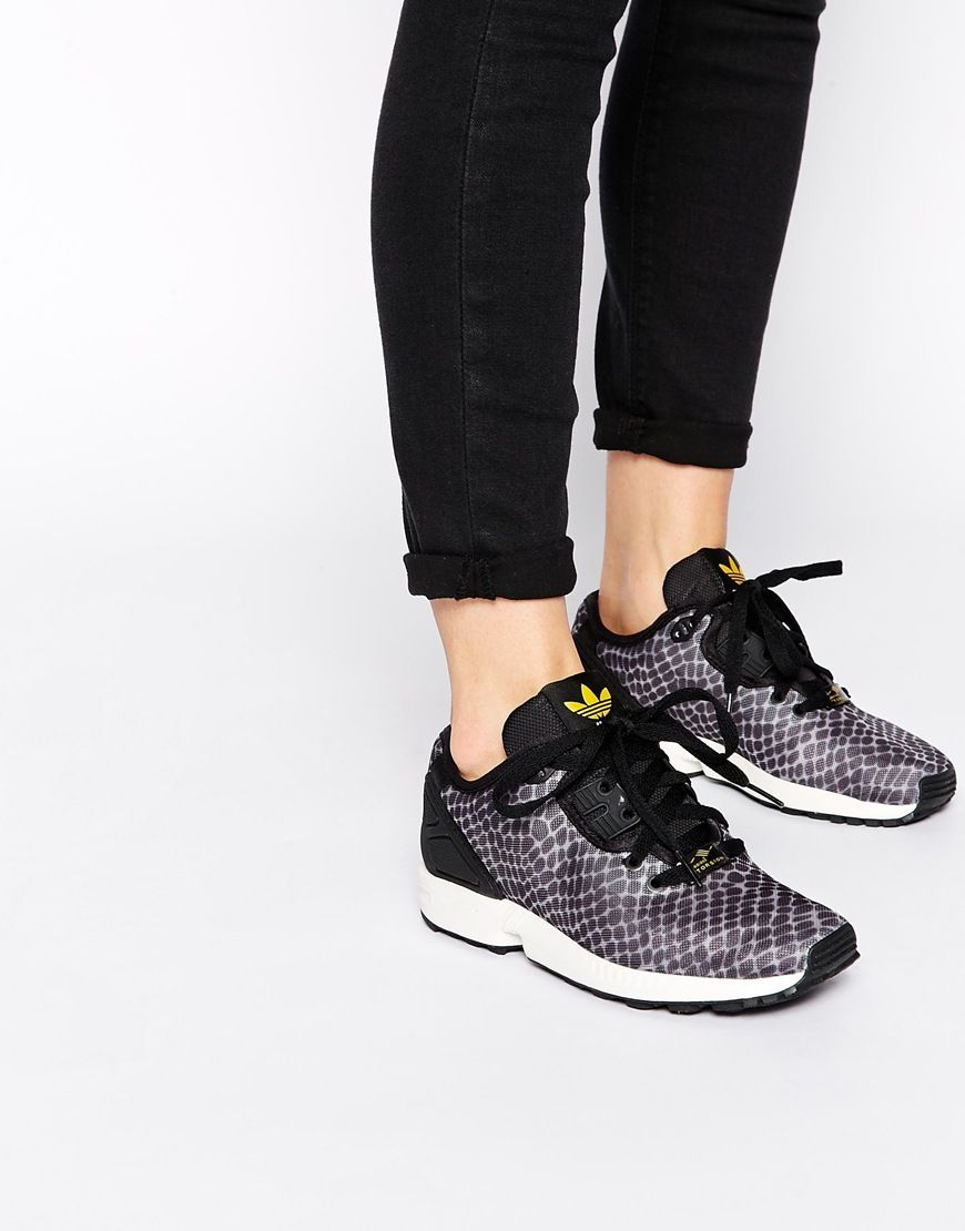 Image 1 of adidas Originals Asymmetrical ZX Flux Trainers S79050