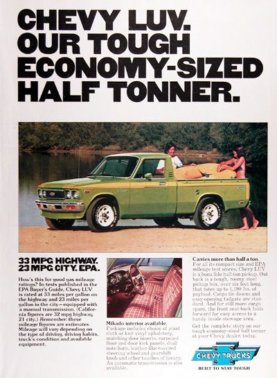 1977 Chevy Luv Pickup Truck Original Vintage Advertisement Our