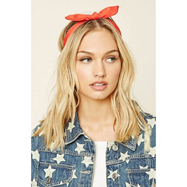 Forever21 Bow Tie Headwrap ($3.90) ❤ liked on Polyvore featuring accessories, hair accessories, red, headband hair accessories, hair band headband, red bow hair accessories, bow hair accessories and forever 21
