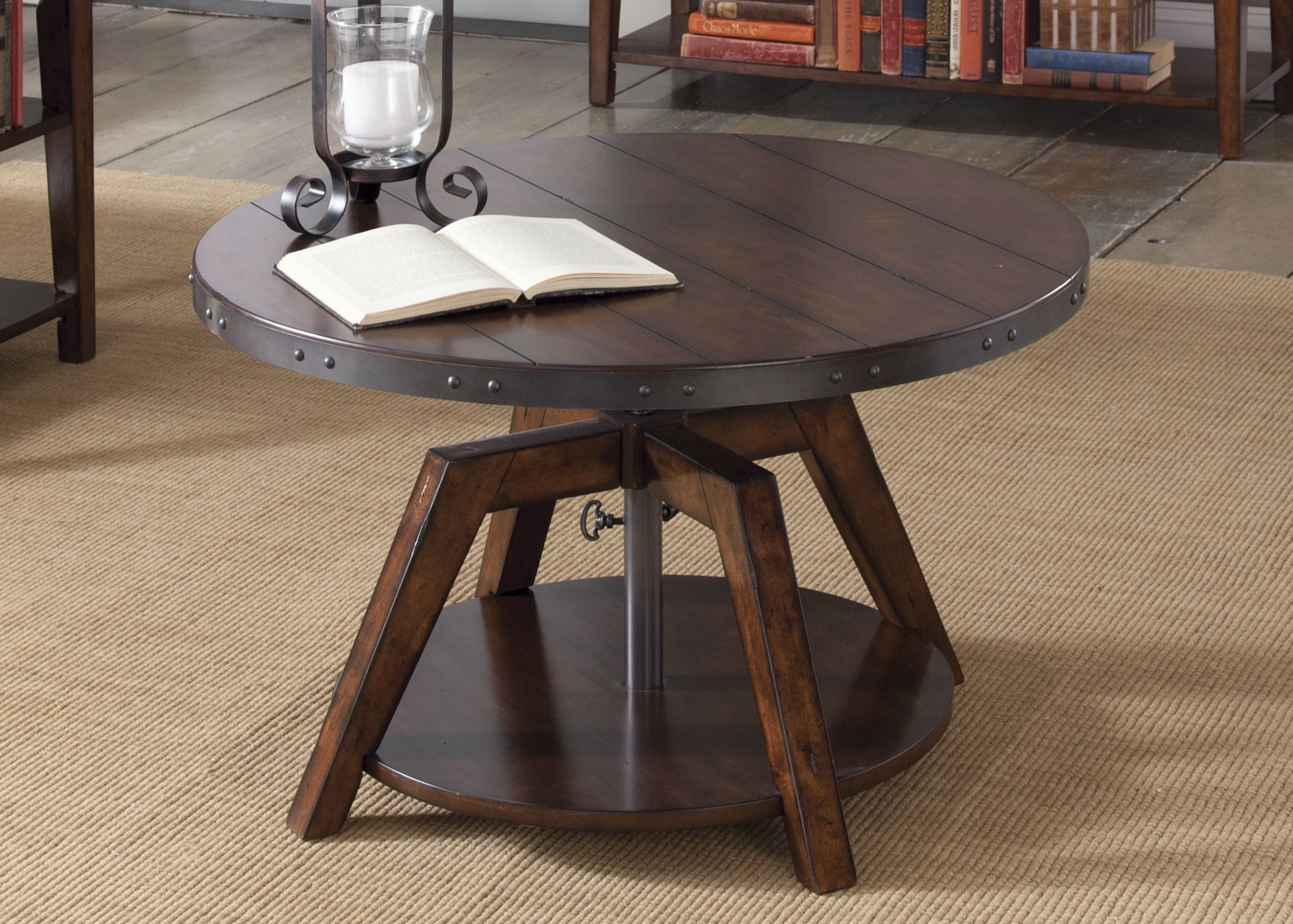 Aspen Skies Motion Cocktail Table 316 Ot1011 Liberty Furniture In 2021 Coffee Table To Dining Table Adjustable Height Coffee Table Brown Coffee Table [ 1500 x 2100 Pixel ]