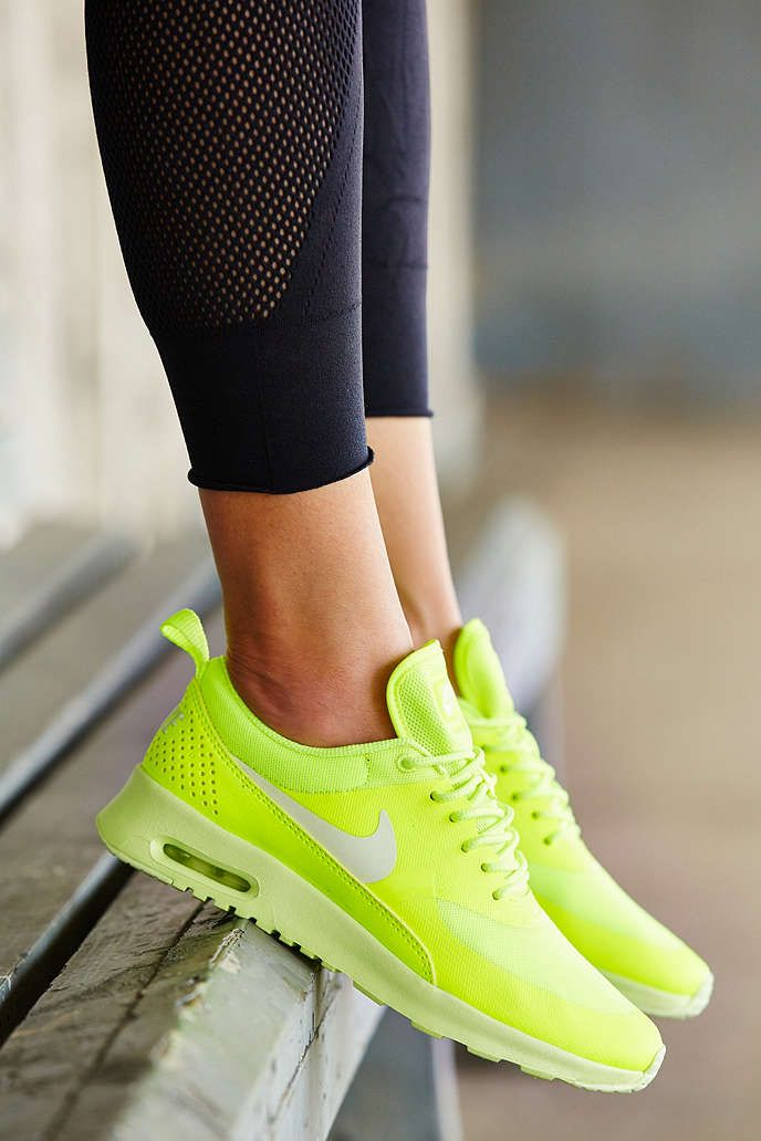 Nike Air Max Thea Trainers in Lime Green | Urban Outfitters UK