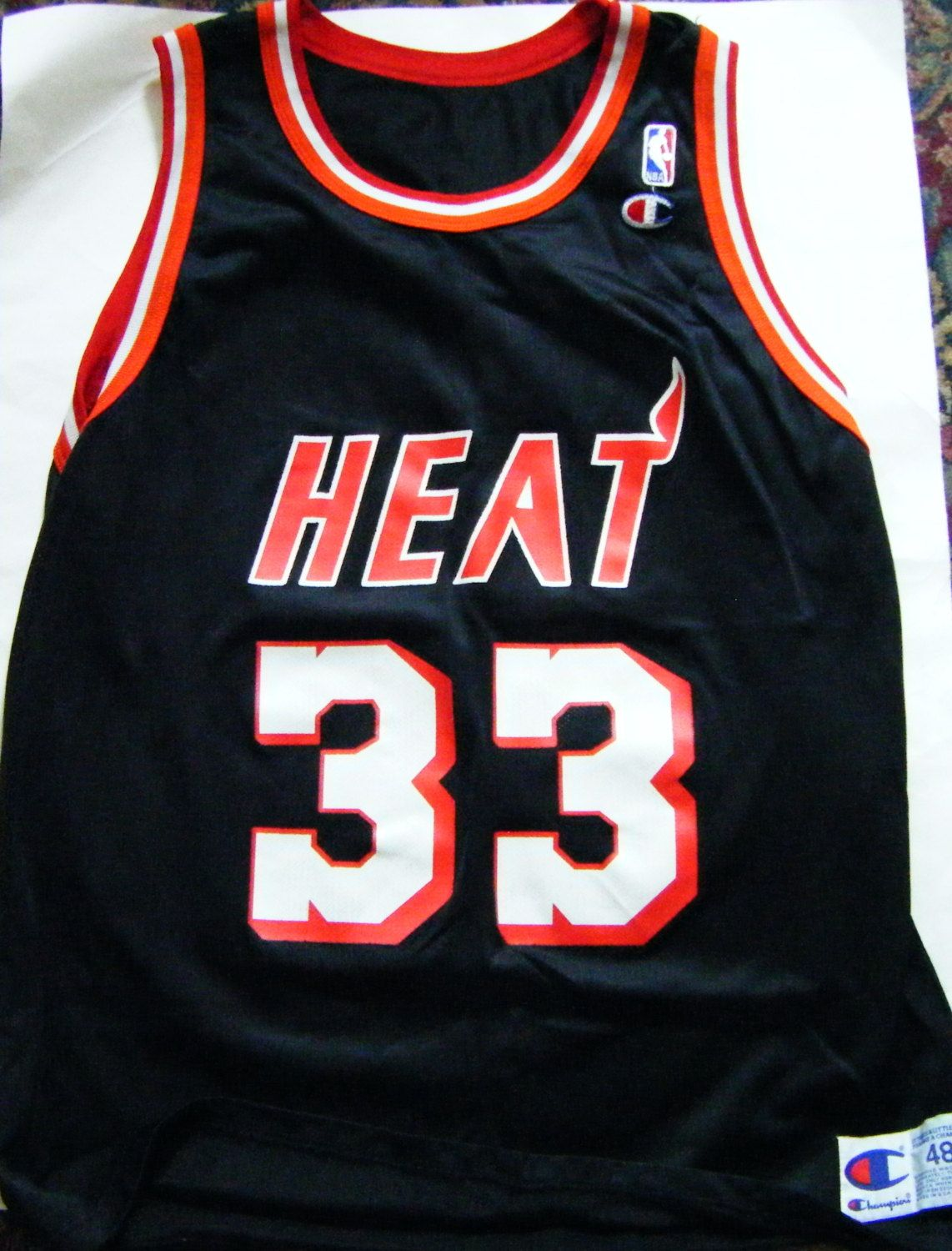 new concept 40c71 c8705 Vintage Alonzo Mourning #33 Miami Heat NBA Jersey Size XL 48 ...