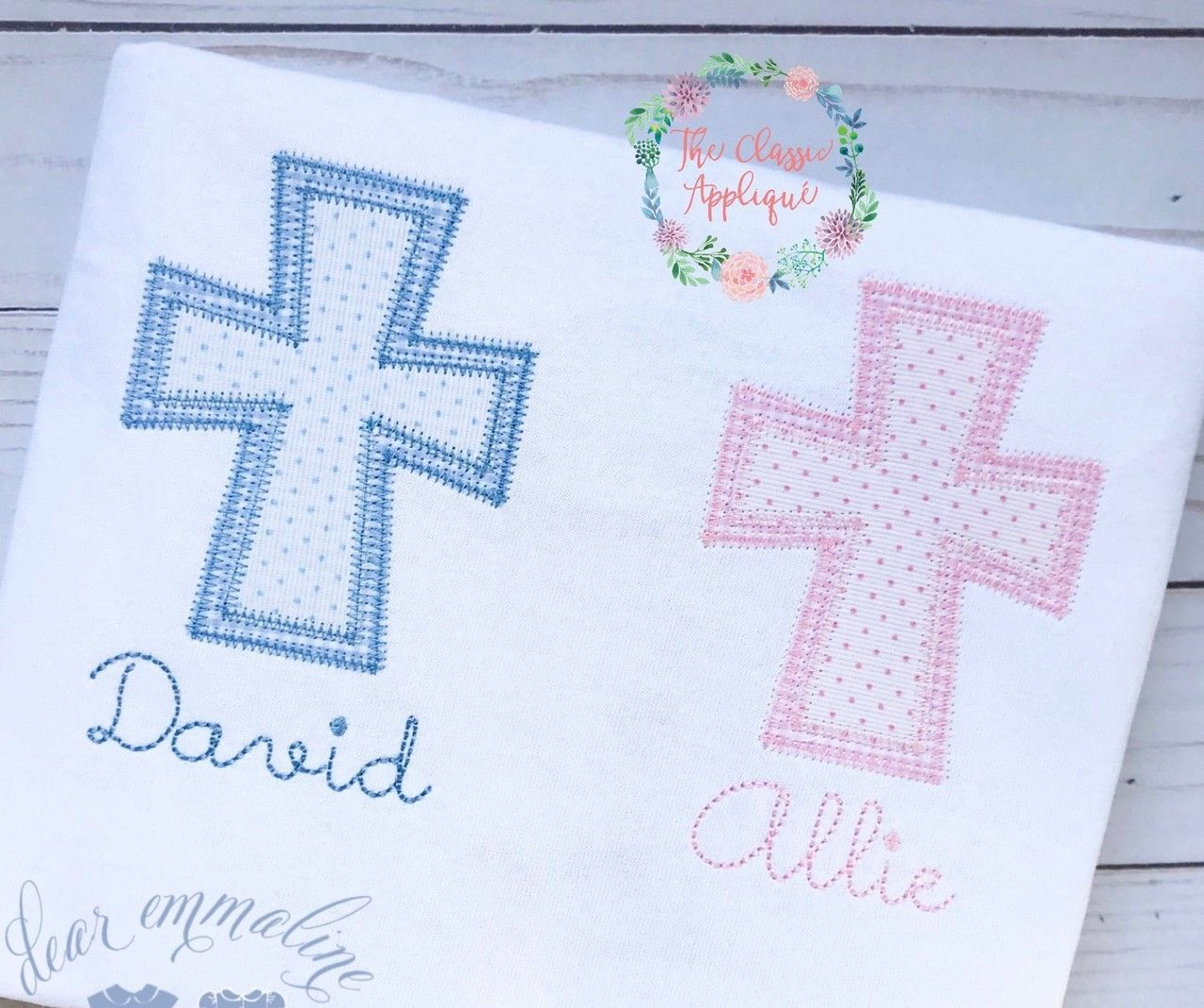 Zig Zag Double Cross Applique
