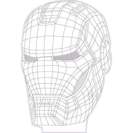 Iron Man 3d Illusion Vector File For Cnc 3bee Studio