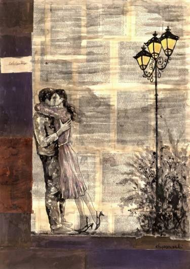 "Saatchi Art Artist Krzyzanowski Art; Drawing, ""Under the lights"" #art"