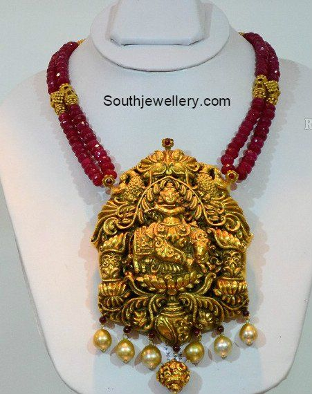 Ruby beads necklace with lord krishna pendant photo zaver ruby beads necklace with lord krishna pendant photo aloadofball Choice Image