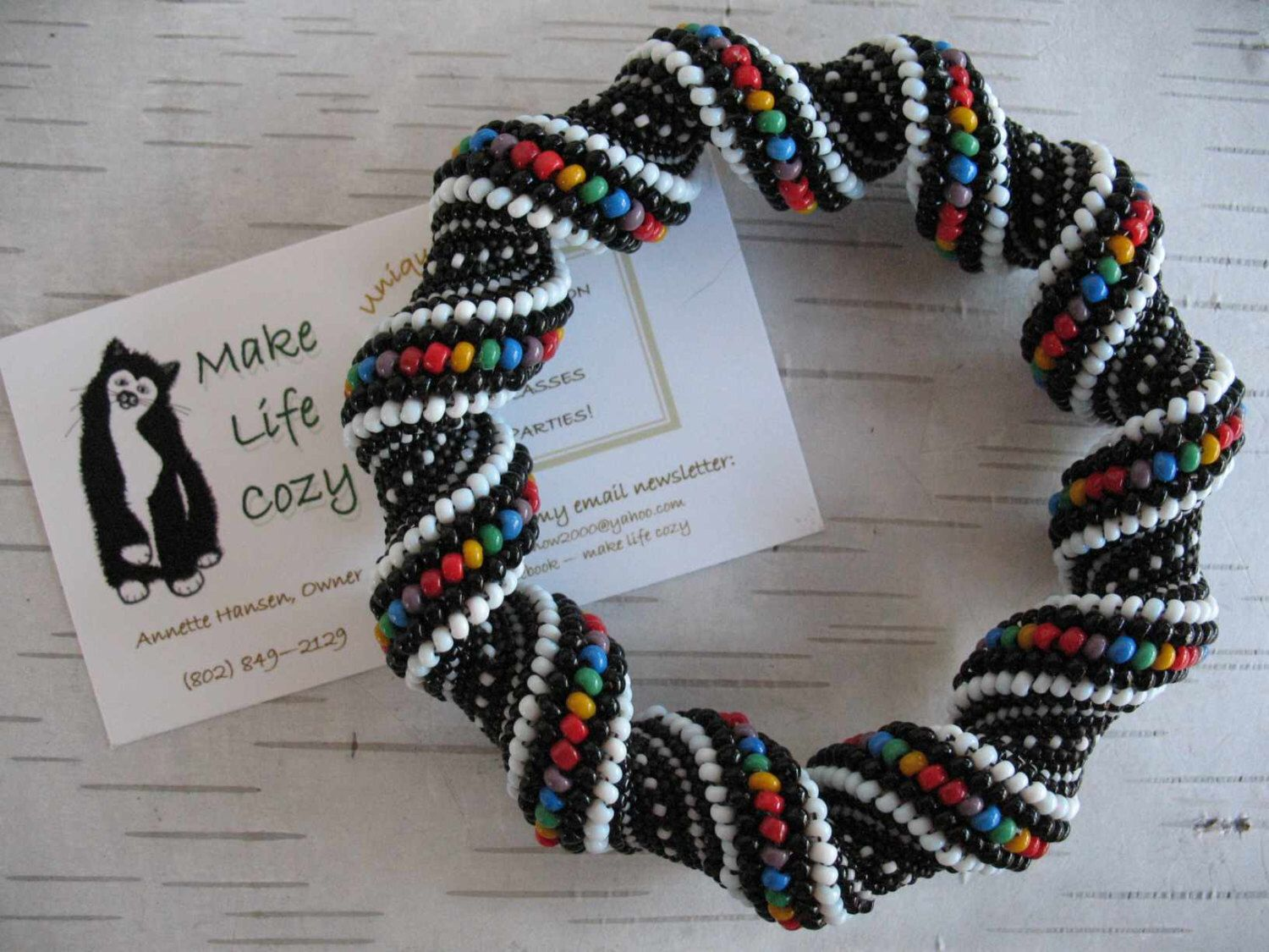 Rainbow Cellini Spiral Bracelet in Glass Seed Beads by MakeLifeCozy on Etsy https://www.etsy.com/listing/130479604/rainbow-cellini-spiral-bracelet-in-glass