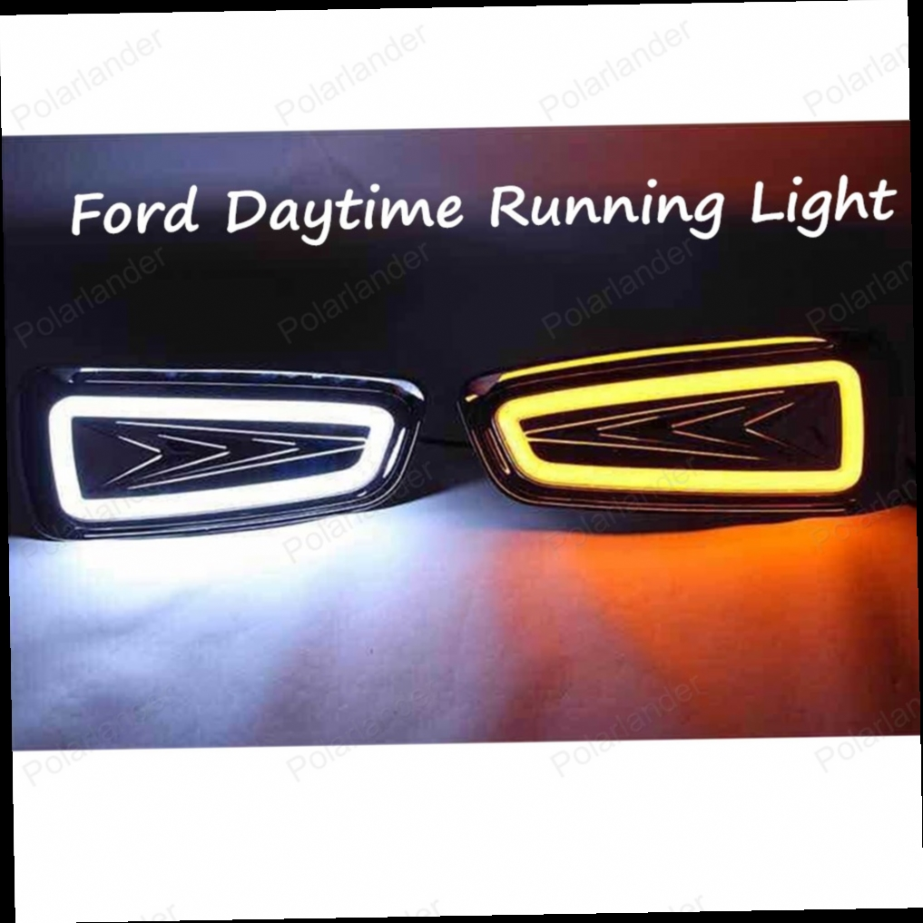 86.45$  Buy now - http://aliqow.worldwells.pw/go.php?t=32707895318 - 2PCS Car Auto Waterproof LED DRL Daytime Running Light front bumper grille grill Cover For Ford F150 SVT Raptor 2009-2014