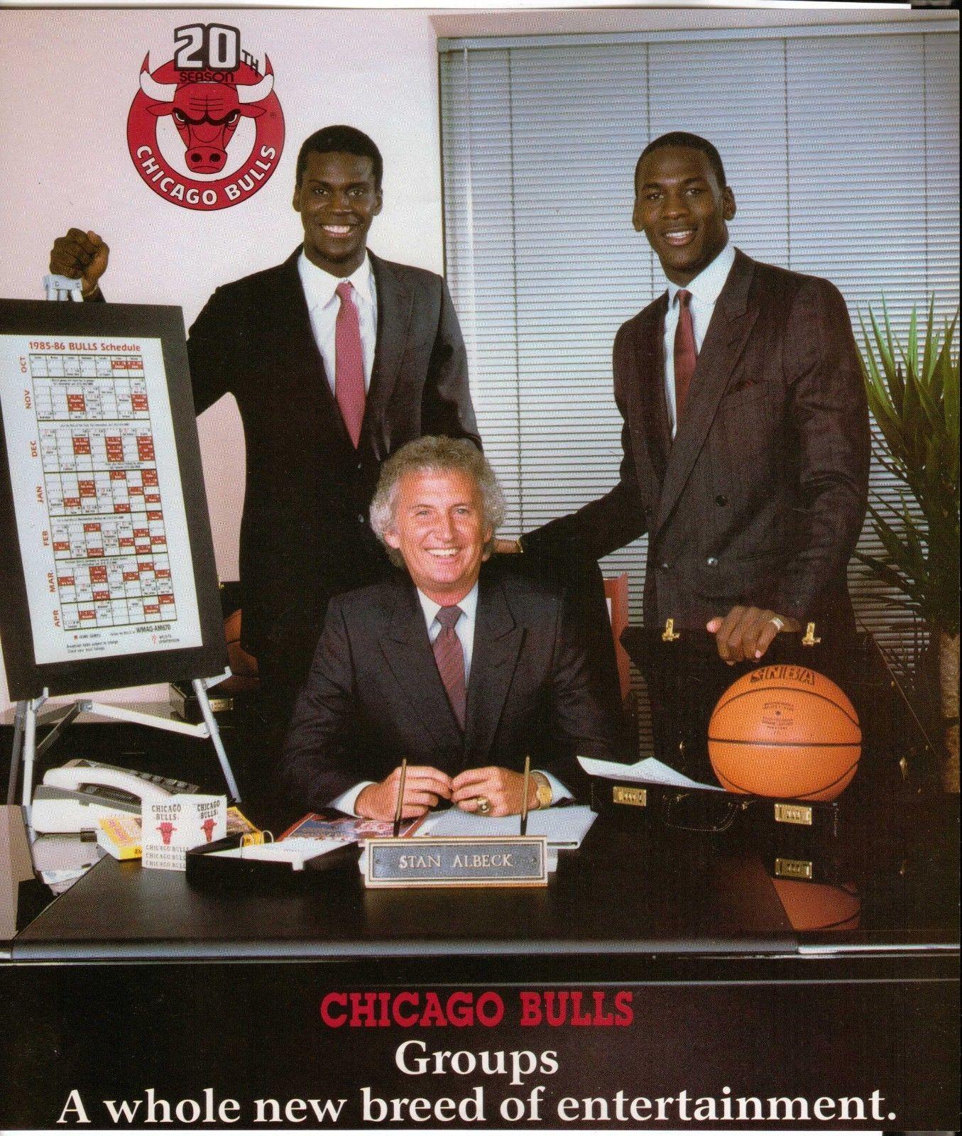 1985 86 Chicago Bulls season ticket promo with Michael Jordan