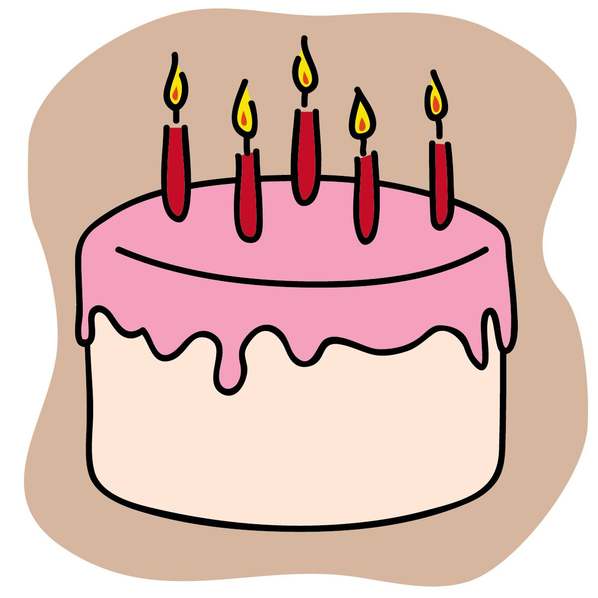 Happy Birthday Chocolate Cake Clip Art