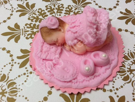 Fondant Baby/ My Cotton Candy Baby Girl /fondant Cake Topper/baby Shower/princess Topper/ cupcake topper/ edible Toppers/babies