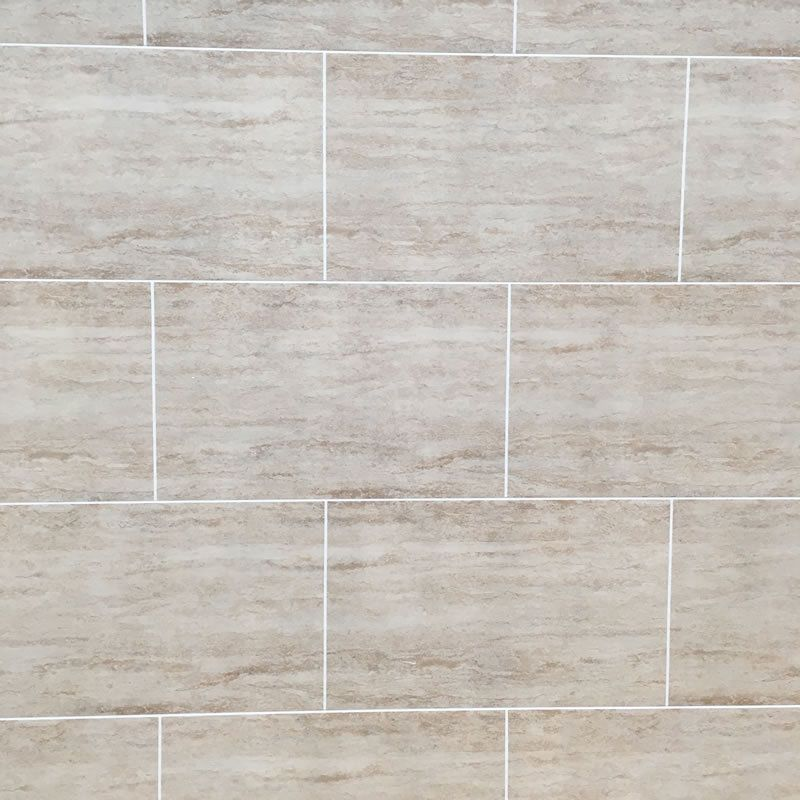 Travertine Tile Effect Bathroom Wall Cladding Pvc Shower Wet Wall Panels Home Furniture Diy Diy Materials Bathroom Wall Cladding Pvc Shower Wall Cladding