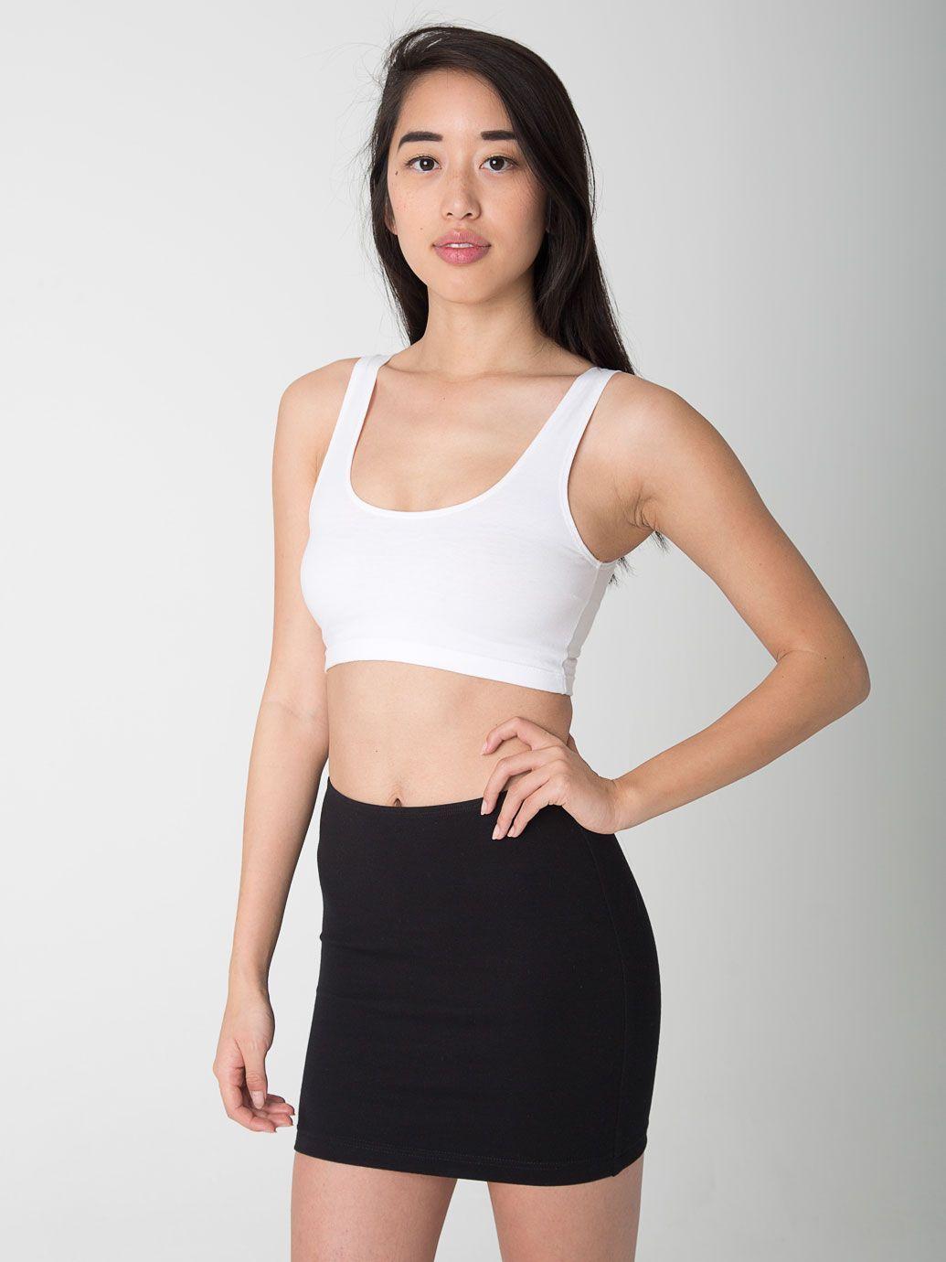 4df039bc4 Ponte Mini Skirt + Crop Tank. #AmericanApparel   Black & White ...