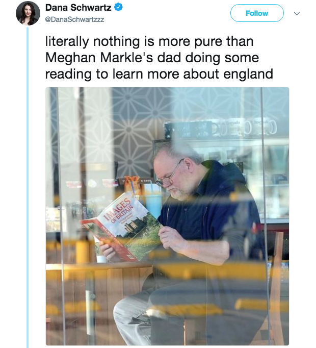 Meghan Markle S Dad Reading About Britain Meghan Markle Dad Facts About England Reading