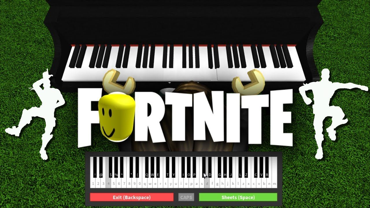 fortnite dances played on roblox piano - fortnite default dance piano notes easy