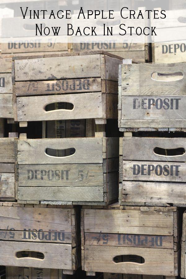 Vintage Apple Crates Wooden Crates Back In Stock Vintage