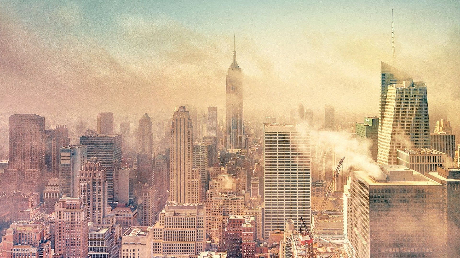 empire state building in fog hdr wallpaper - ForWallpaper. | SUBJECT ...