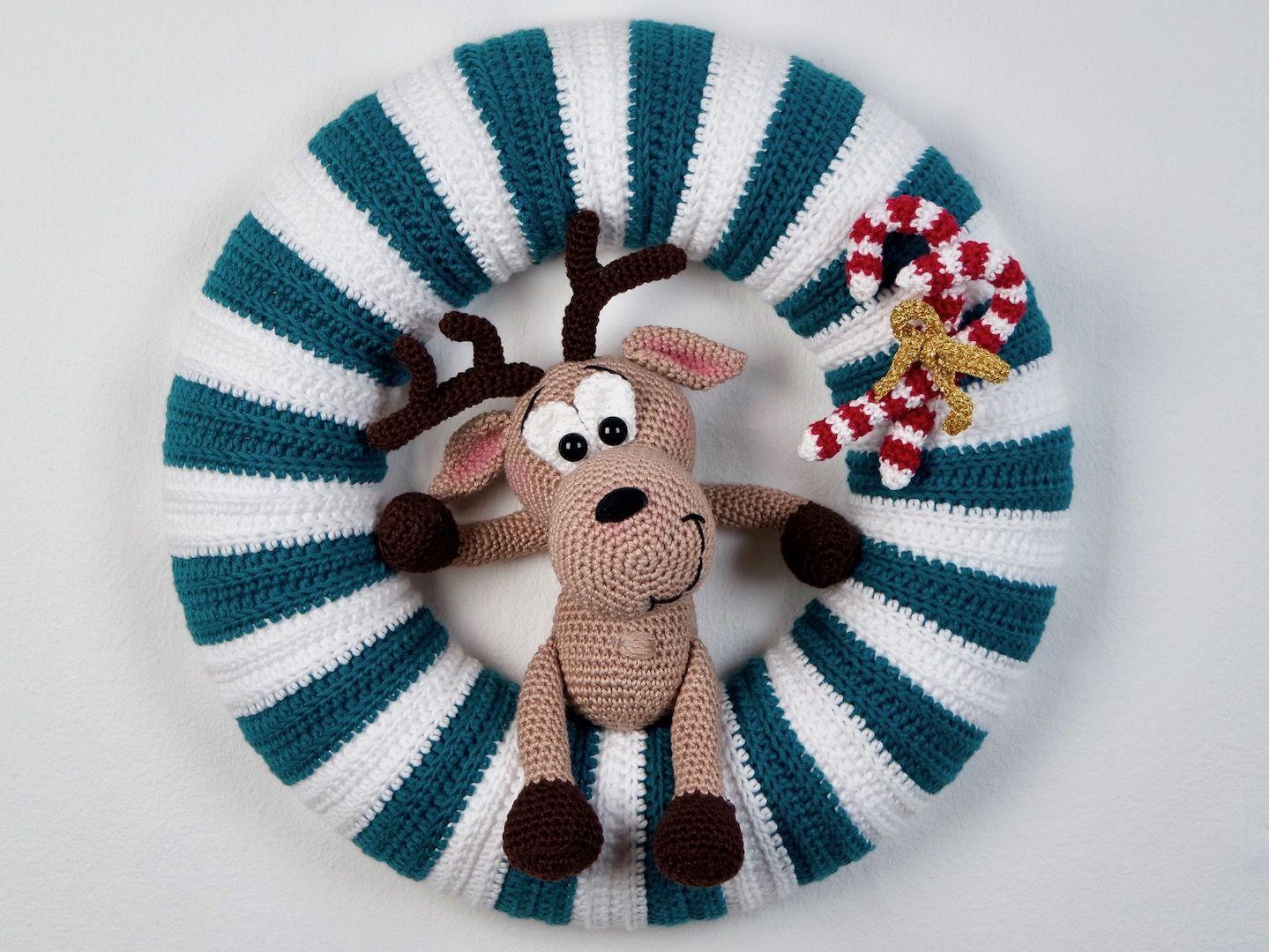 Photo of Ghirlanda natalizia a motivo uncinetto – Wolligurumi