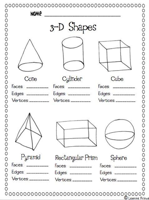 Love All Things Teaching Shapes Worksheet Kindergarten Geometry Worksheets Math School