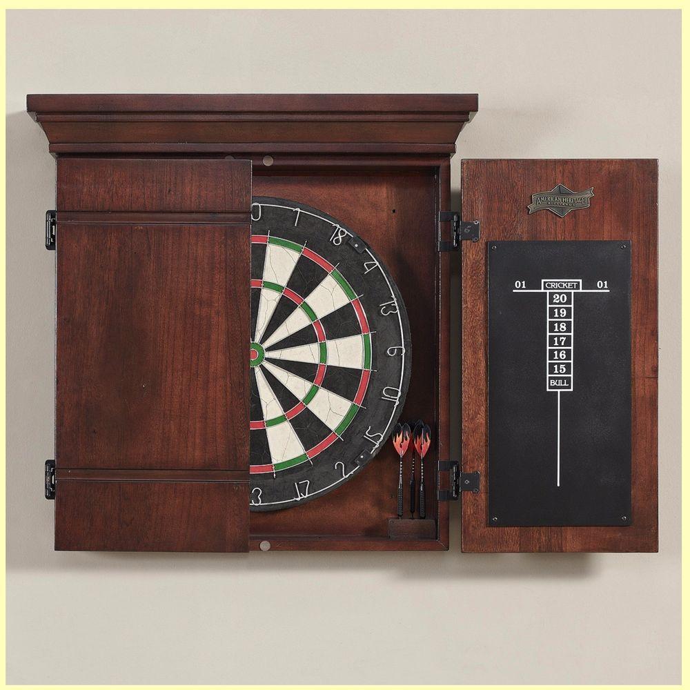 Vintage Dart Board Cabinet Dartboard Target Game Classic ...