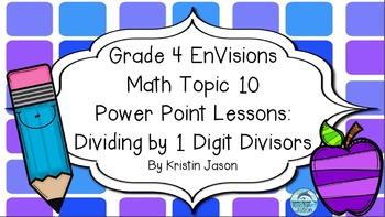 Grade 4 Envisions Math Topic 10 Power Point Lessons Envision Math Math Elementary Math